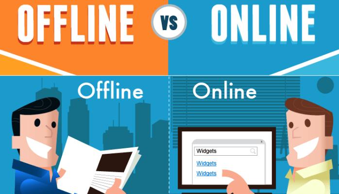 Sự khác nhau cơ bản giữa marketing online và marketing offline Sự khác nhau cơ bản giữa marketing online và marketing offline